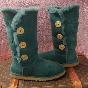 UGG Bailey Triple Button Tall Atlantic Green Boots